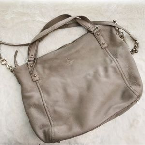 kate spade Bags - Kate Spade Grey Leather Crossbody Purse